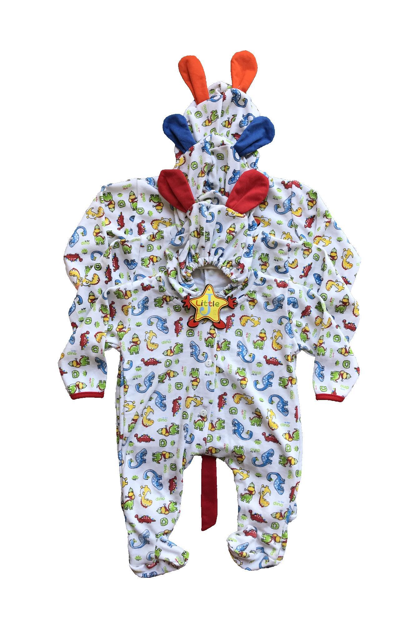 BAYIe - 3 pcs Baju Bayi model Jumper Panjang Buntu  motif Lucu LITTLE usia 0 - 6 bulan katun/pakaian Jumsuit bayi /baju bayi new born
