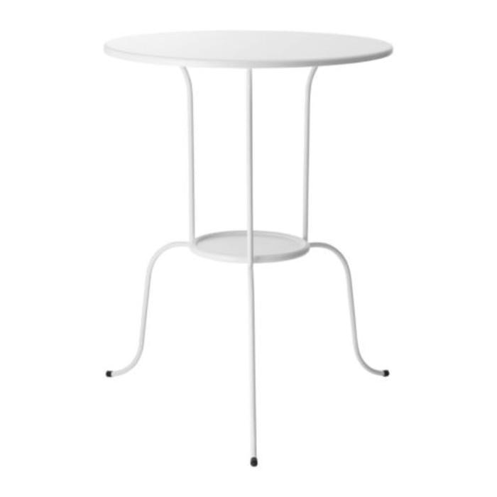 IKEA LINDVED Meja samping, Putih