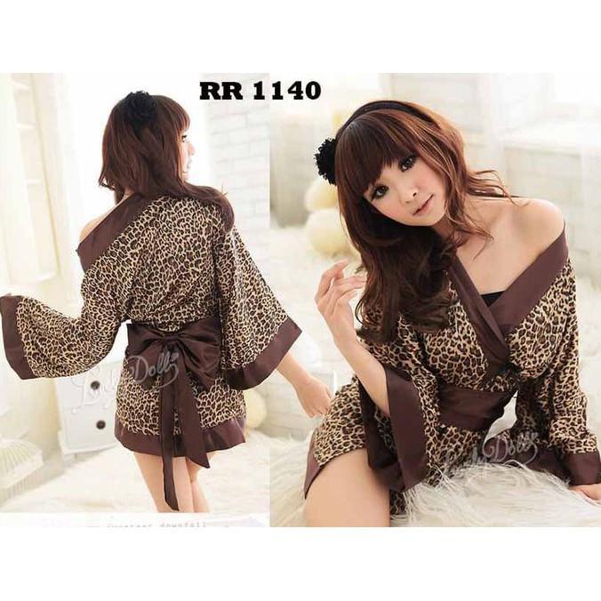Sexy Kimono Lingerie Import Rr 1140 Leopard Japanese Yukata - Sexyjh