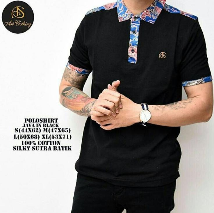 Polo Shirt Batik BOOGIE Man In Black
