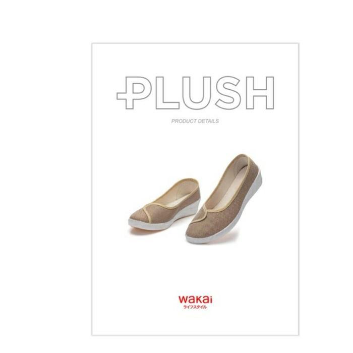 Sepatu Wedges Wanita Wakai Plush Original Baru - Nude