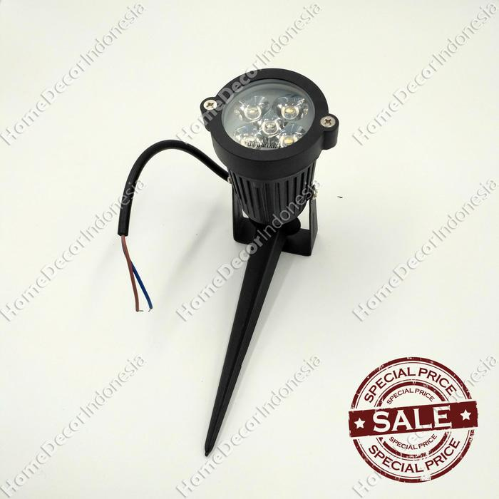 Lampu Sorot Taman Spotlight Outdoor/Indoor Tancap LED 5W White Murah
