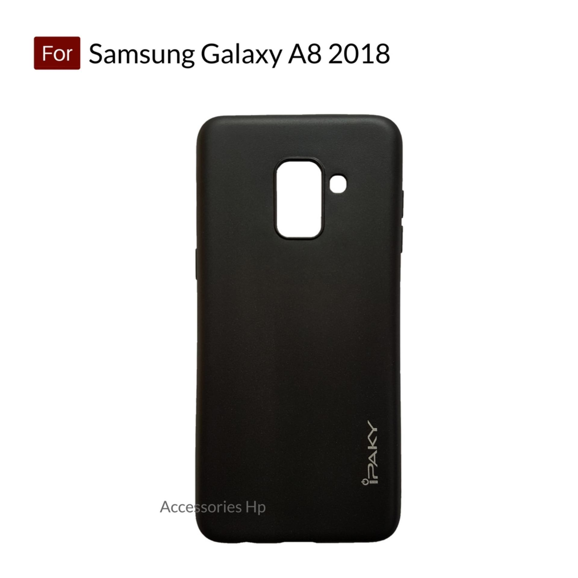 Accessories Hp iPaky Super Slim Matte Anti Fingerprint Hybrid Case For Samsung Galaxy A8 2018 - Black