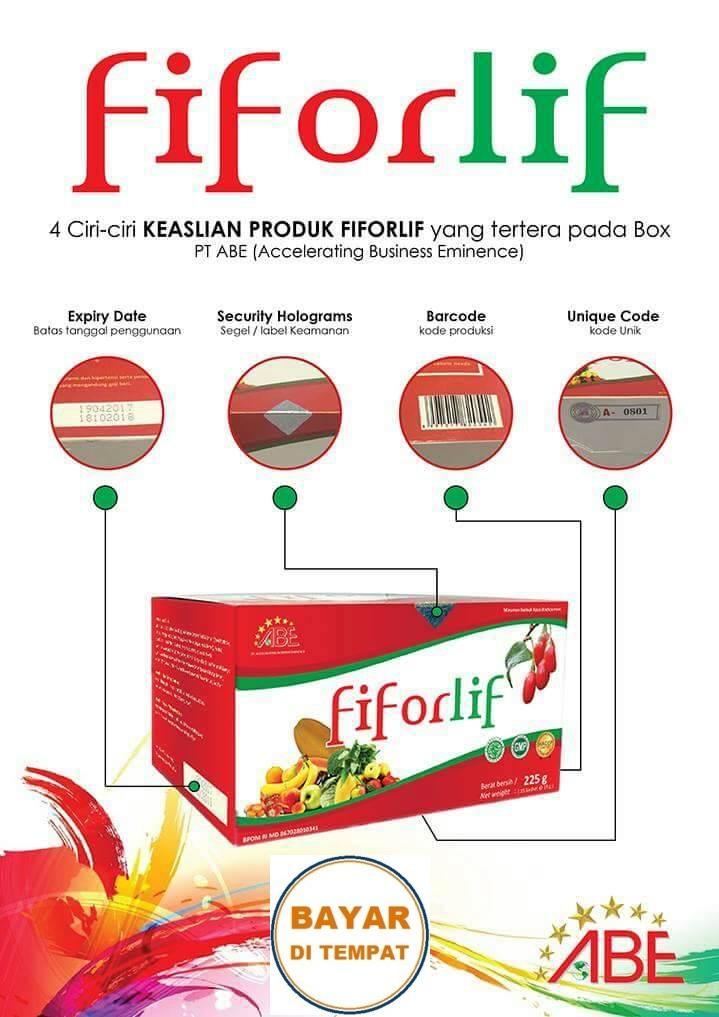 4 Box Fiforlif Original Diet Detox Herbal Asli Turunkan Berat Badan (Surabaya)