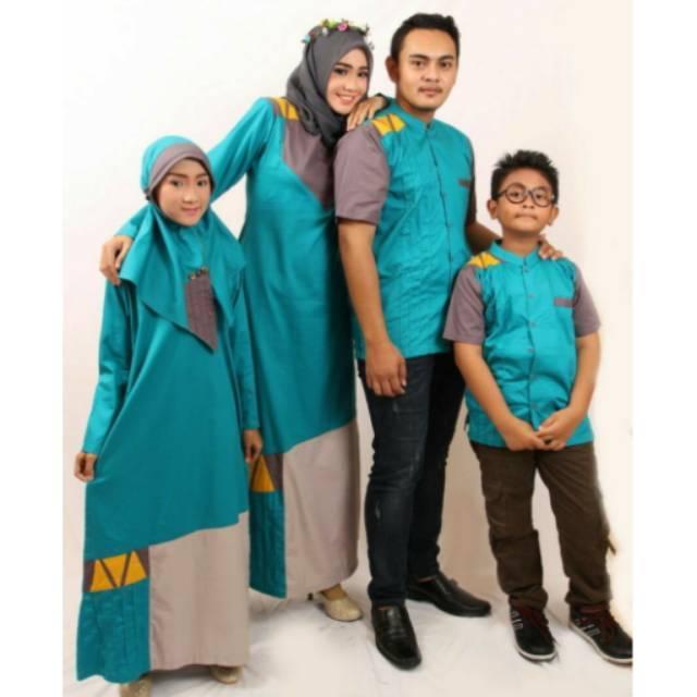 SR.D03 | Sarimbit couple keluarga seragam muslim baju baru koko gamis ayah ibu anak branded murah Koko Anak No 12 & 14