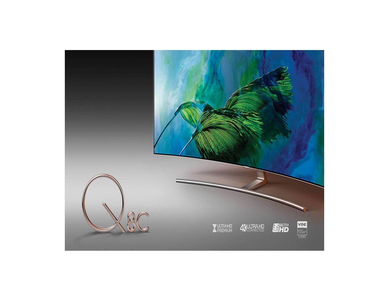 Promo TV Samsung 65 Inch Type QA65Q8CAMK QLED UHD 4K Curved Smart TV