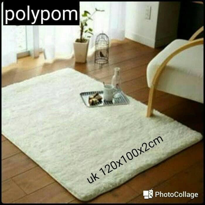 Detail Gambar karpet lantai bulu ukuran 120 x 100 cm /karpet lantai empuk lembut - DNN6sP Terbaru