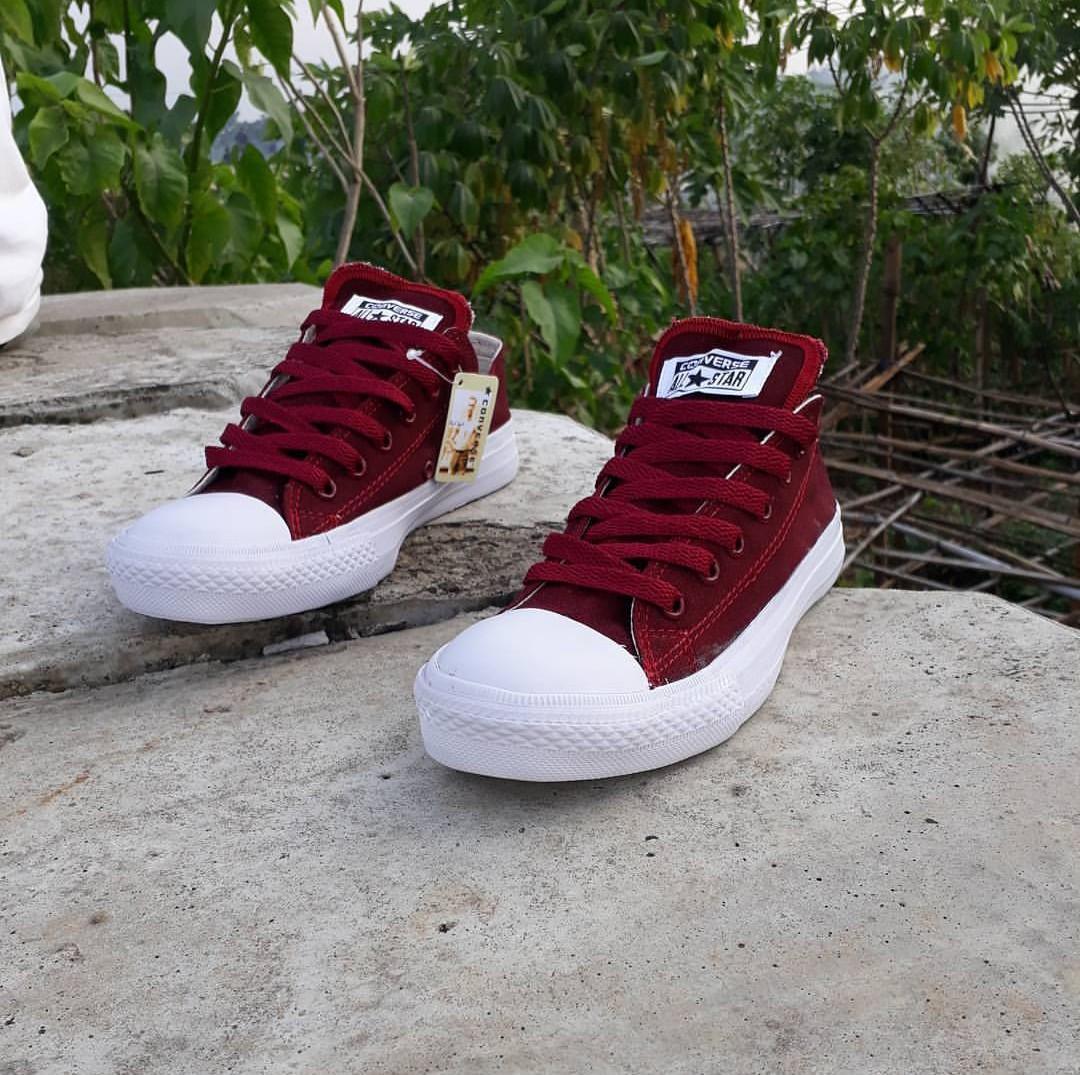 Sepatu casual converse CT maroon-sepatu sekolah-sepatu sneakers-canvas
