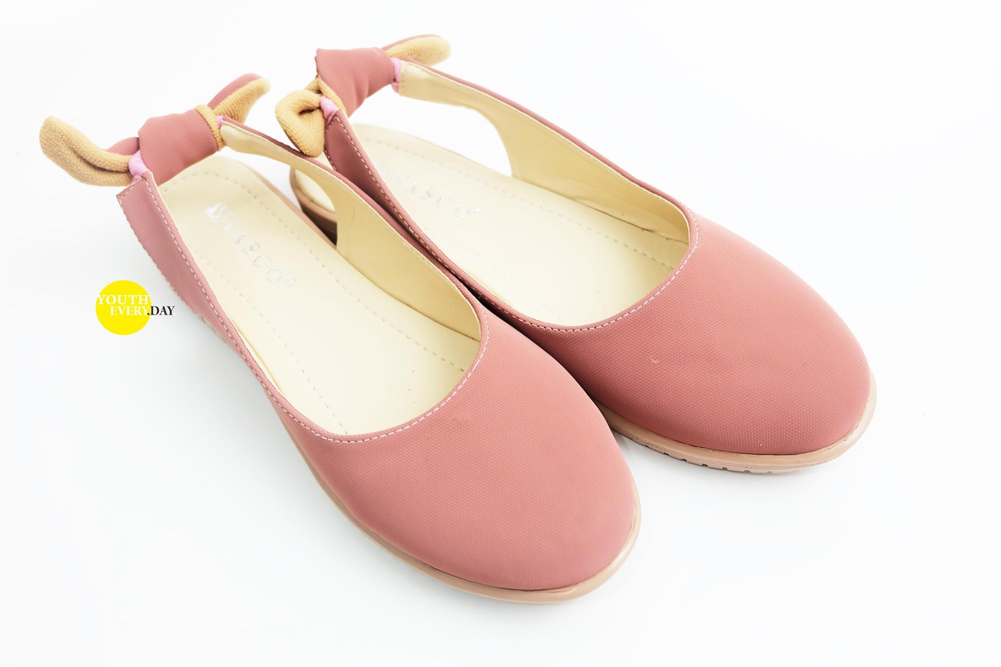 Sepatu Wanita Flatshoes Flat Shoes Merk Vasco Motif Pita Belakang
