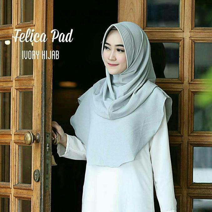 Discon Keren Nih Jilbab Felicia Pad Lavender  Wtyuk