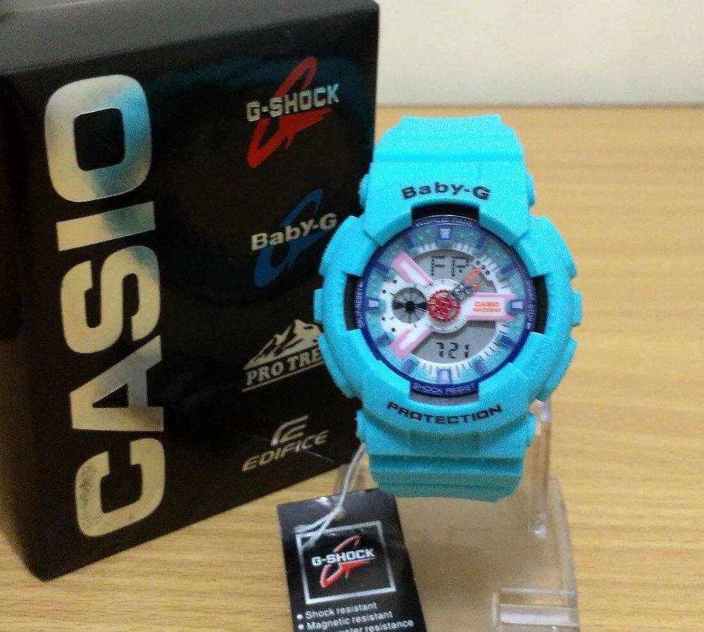 Harga Jam Tangan Wanita Baby G Terbaru 2018 Casio Bga 180 2b3 Original Garansi Resmi 1 Tahun Sporty Dual Time