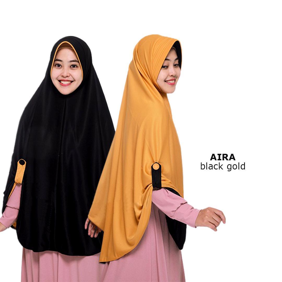 [Jilbab Hijab Syari] Jilbab Instan Bolak Balik Kerudung Langsung Pakai Aira Kancing Kanan dan Kiri Hijab Pet Anti Tembem Bisa Bayar di Tempat .,