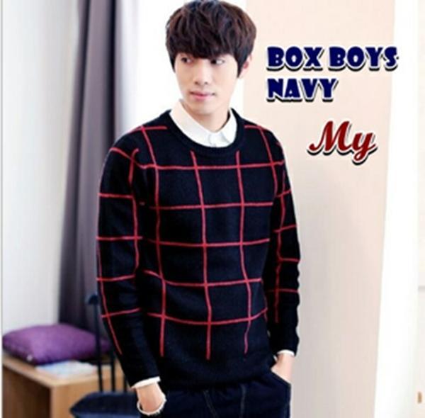 Box Boys Navy Sweater Rajut