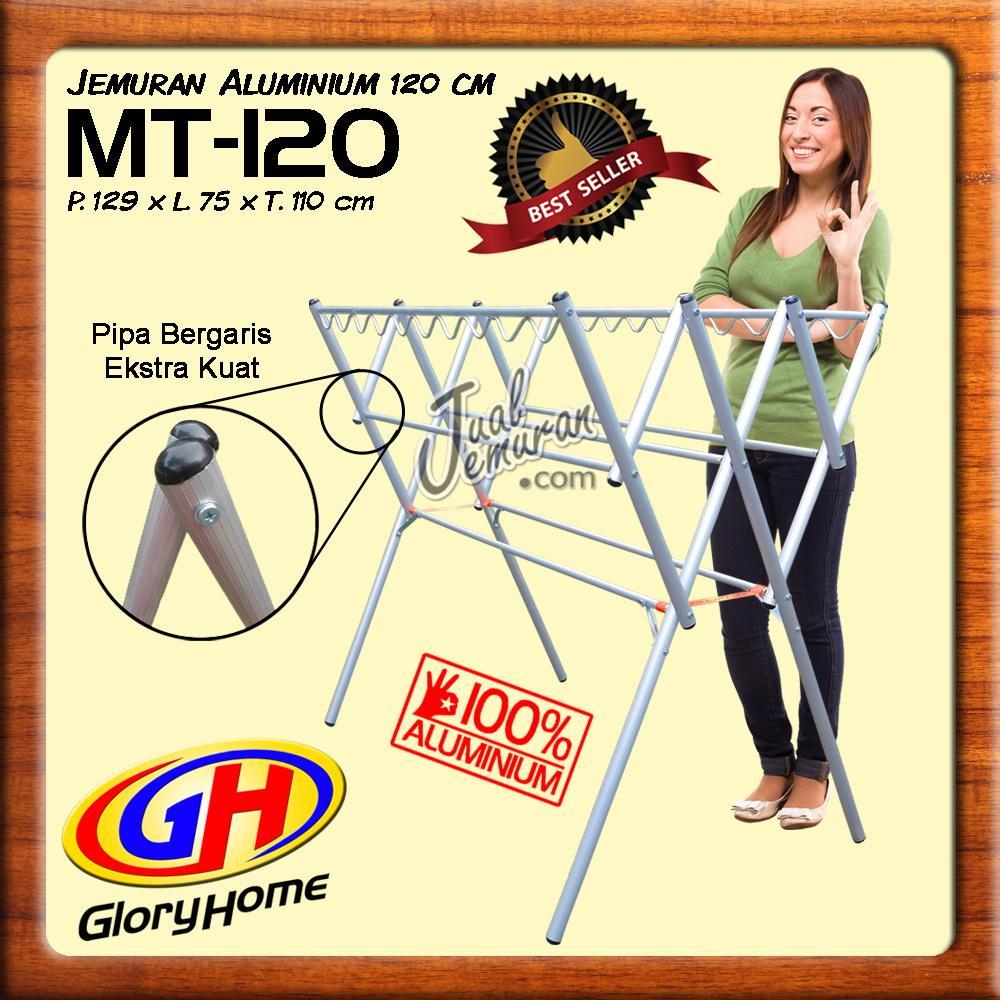 Glory Home Jemuran Baju Aluminium 120cm + Hanger