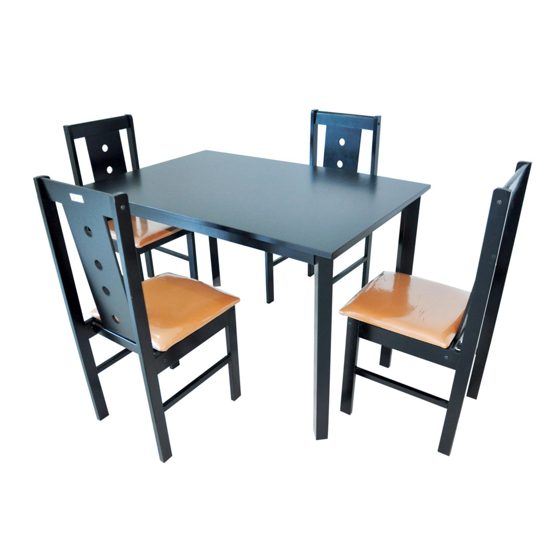 Felini Furniture Meja Makan 4 Kursi