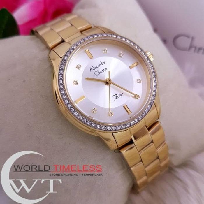 Jam Tangan Wanita Merk Alexandre Christie Original Type: 2661 Baterai