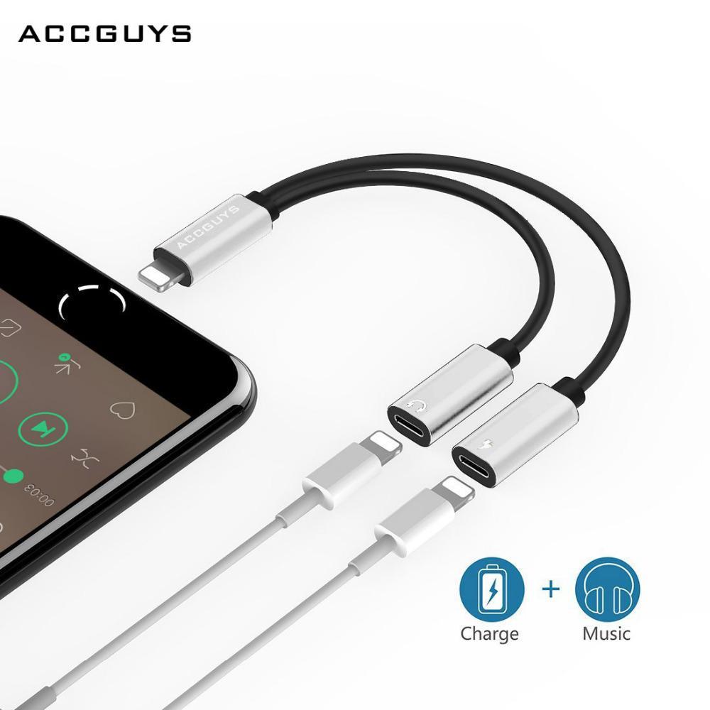 2 Dalam 1 untuk Pencahayaan Ke Ganda Konverter Adaptor Konektor Audio Kabel Pengisian Daya + Mikrofon ...