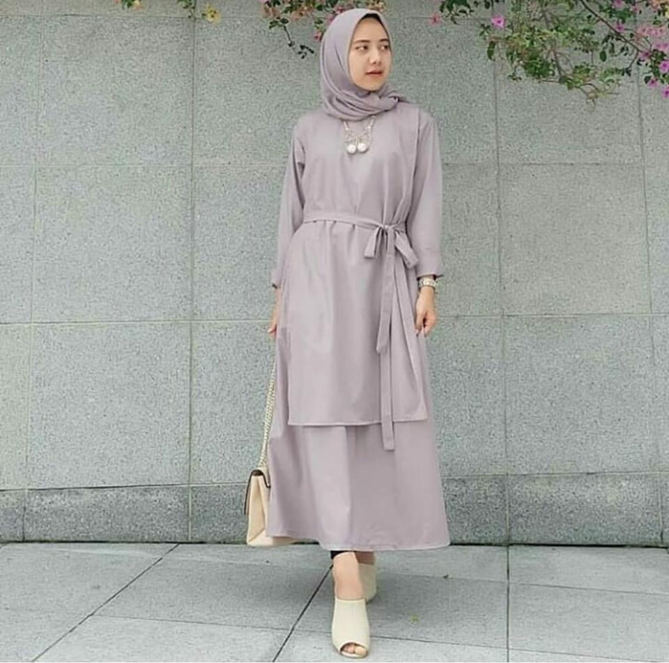 Ria_Store MC229 Carey Tunik Milo // Busana Muslim Wanita MC229 Carey Tunik // Maxi Dress / Dress Maxi Tunik / Maxi Muslim / Dress Muslim / Busana Muslim / Baju Muslim / Hijab Fashion / Hijab Style - Hight Quality