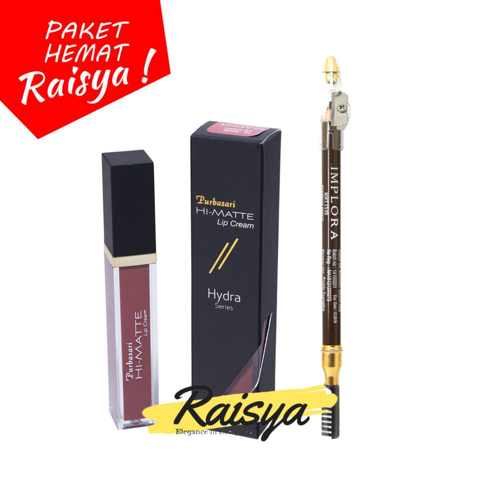 Purbasari Hi-Matte Lip Cream No. 03 Lantana Free Implora Pensil Alis Coklat Resmi BPOM