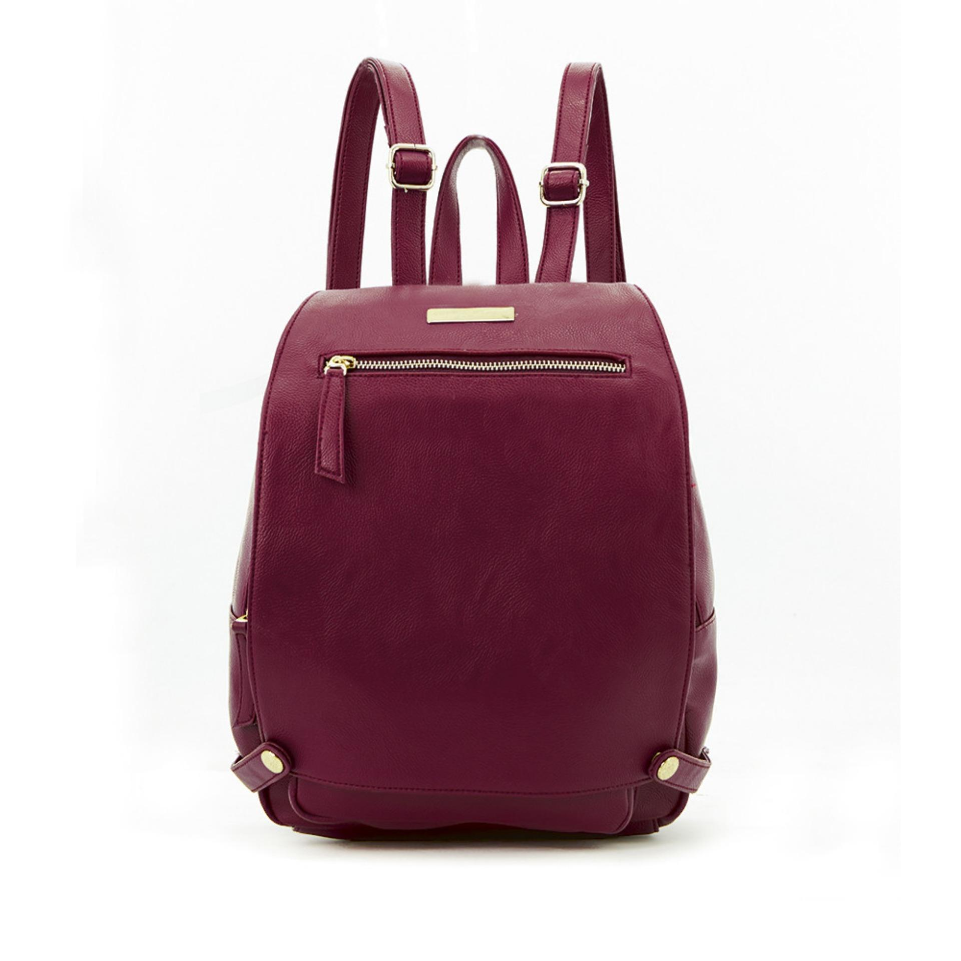 Sophie Paris Tas Ransel Backpack Wanita Import Branded Colmari Bag T4295M2 - Maroon .