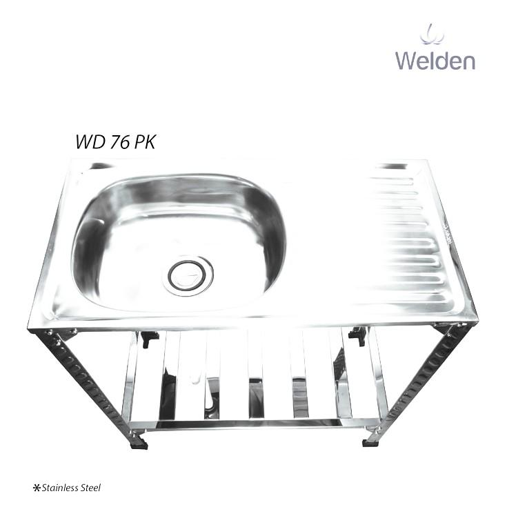 Bak Cuci Piring Kaki Sink Portable Meja Welden 76Pk - Fzb77w