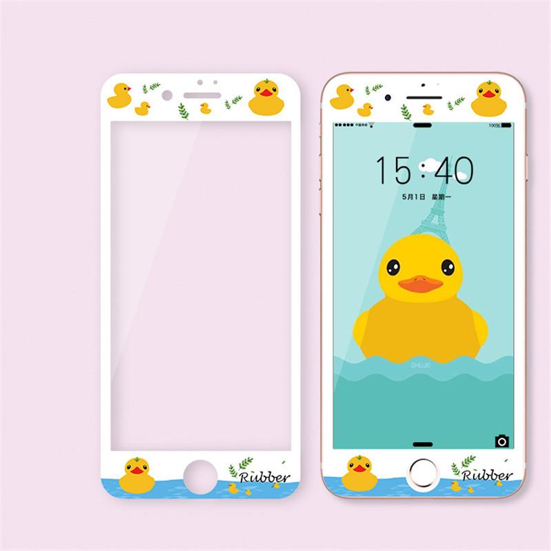 3D Soft Curve edge Tempered Glass Screen Protector Full Cover Cartoon Colorful 9H Toughen Film Protective