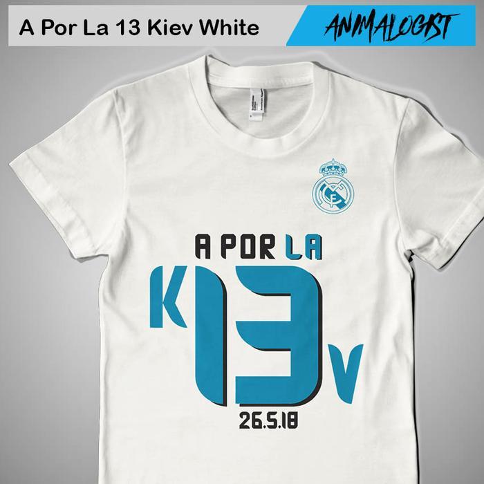 Zos Kaos A Por La 13 Real Madrid 2018 Apor Aporla Aporla13 Kaos Distro Fashion Pria Atasan Casual Fans Club Real Madrid