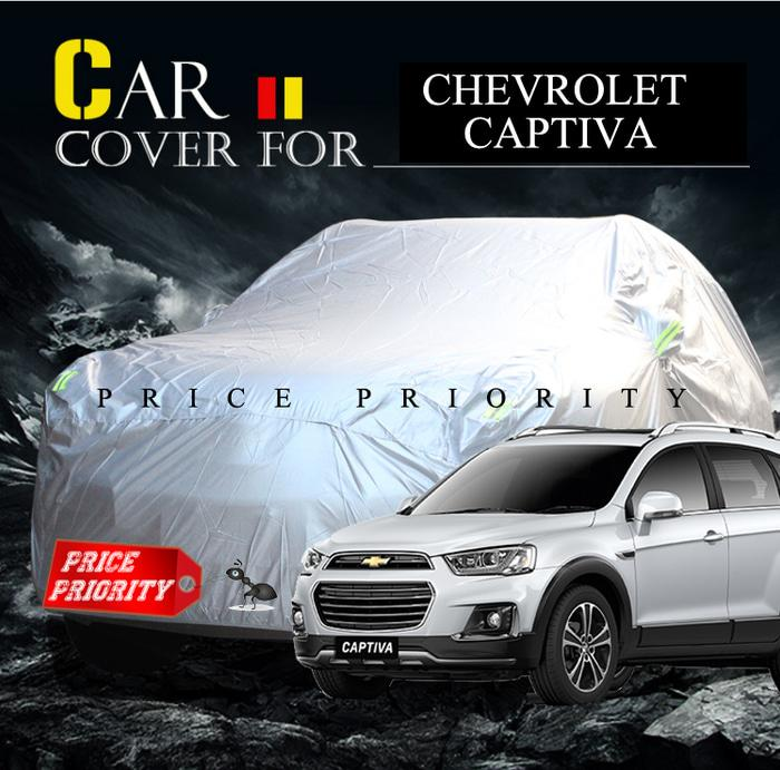 BEST SELLER!!! Body Cover / Sarung Mobil Chevrolet Captiva Polyesther 100% Waterproof - dyXi2p