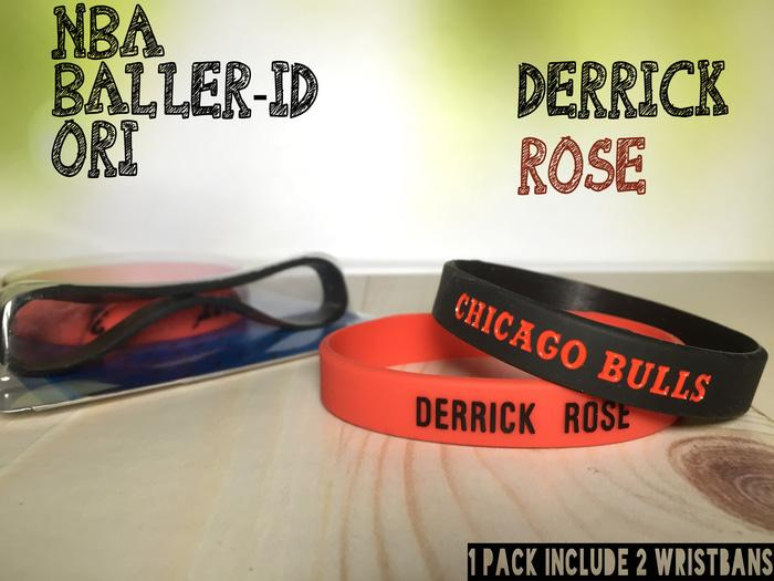 DERRICK ROSE #1 NBA BALLER ID ORI BAND BANDS BASKETBALL WRISTBAND NIKE