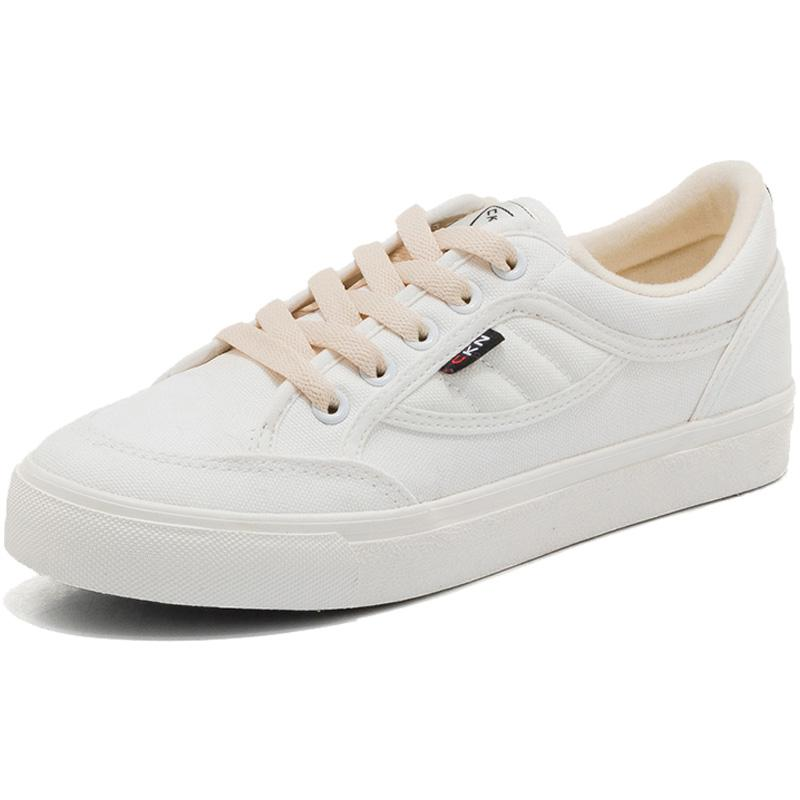 Yang Feminim Korea Modis Gaya Musim Gugur Baru Siswa Kets Putih Sepatu Kanvas (F155 Putih (Kain))
