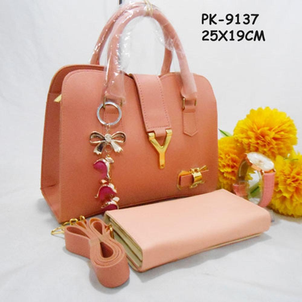 Paket Tas Y pita, Dompet Dan Jam tangan ( No Box ) Kode : PK-9137 di lapak Tas Wanita Murah Meriah berlii