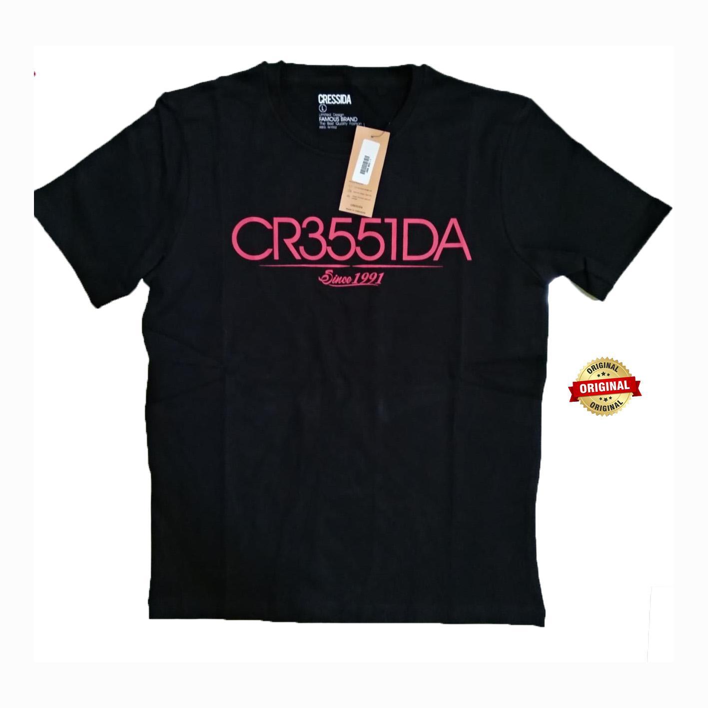 Kaos Oblong Pria Murah Bagus Tebal - Merk Cressida Original - Toko Sumber Rejeki Jeans