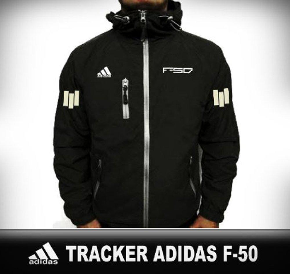 Jaket Tracker Waterproof Windbreaker Adidas F-50 Black