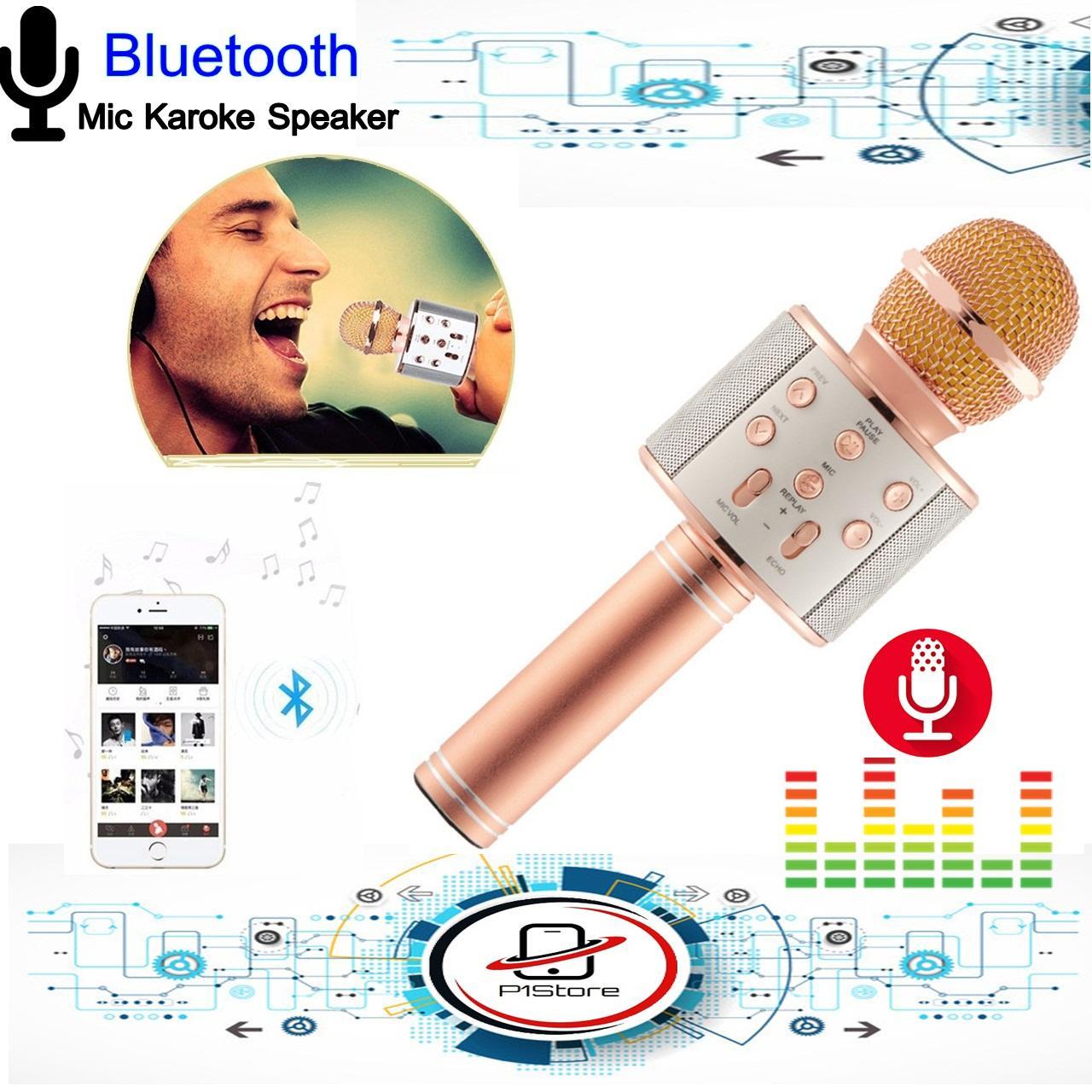 Cek Harga Baru Karsis Magic Mic Karaoke Bluetooth Smule Bigo E103 Wster Ws 858 Original Speaker