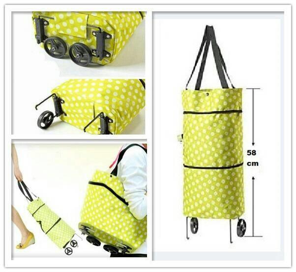 trolley shopping bag/tas belanja beroda bisa diperpanjang.