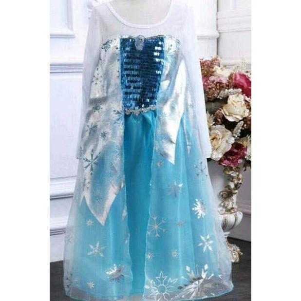PROMO SALE - BAJU FROZEN ELSA SNOW / PRINCESS COSTUM  F001