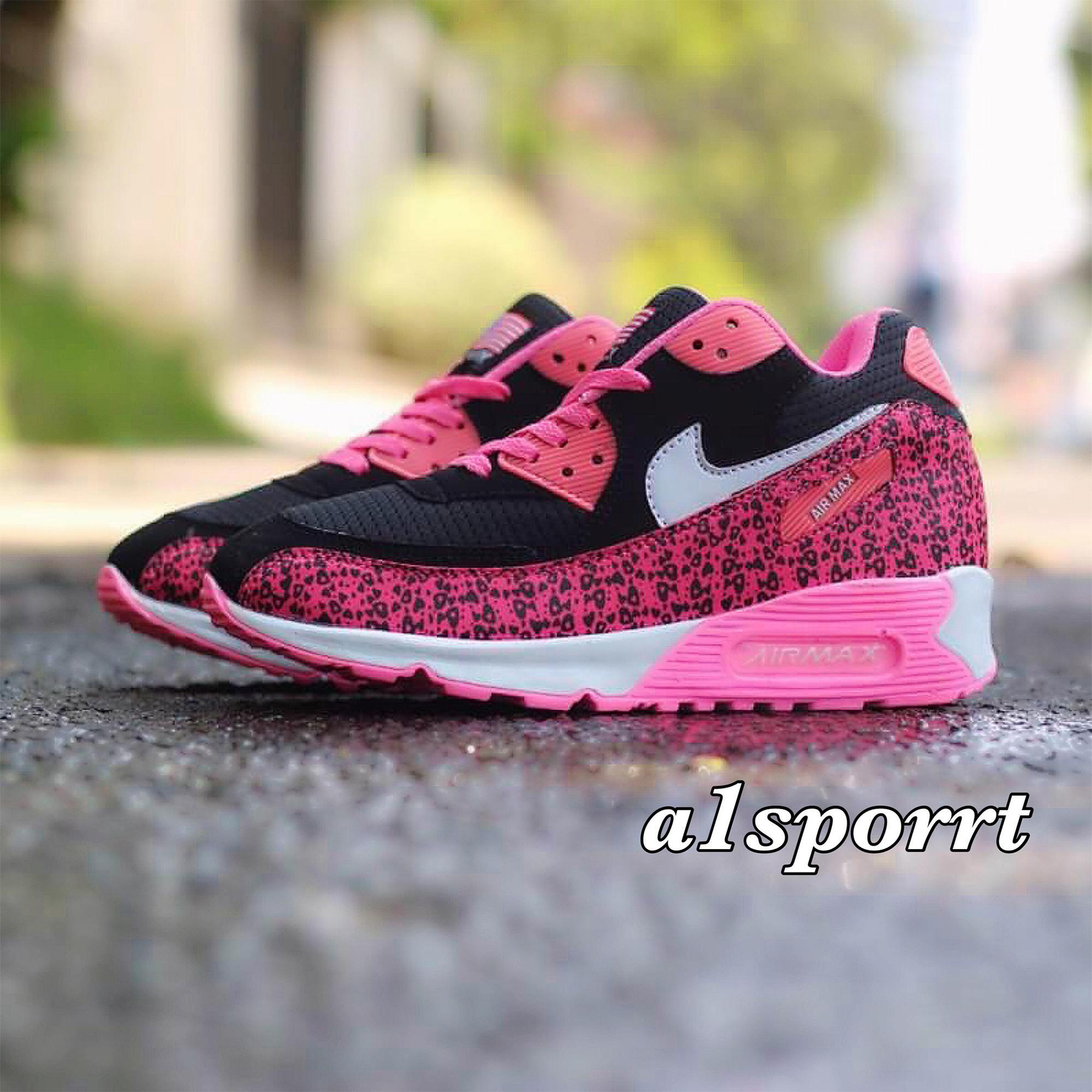 Nike Airmax Kualitas Premium Hitam Pink Corak