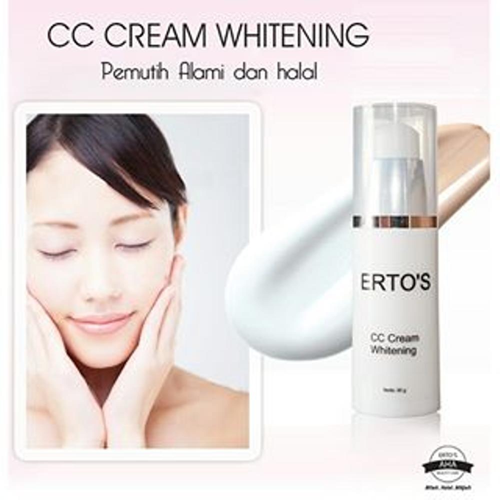 Cek Harga Baru Ertos Paket Original Cc Cream Night Serum Kinclong Pemutih Wajah Alami Dan
