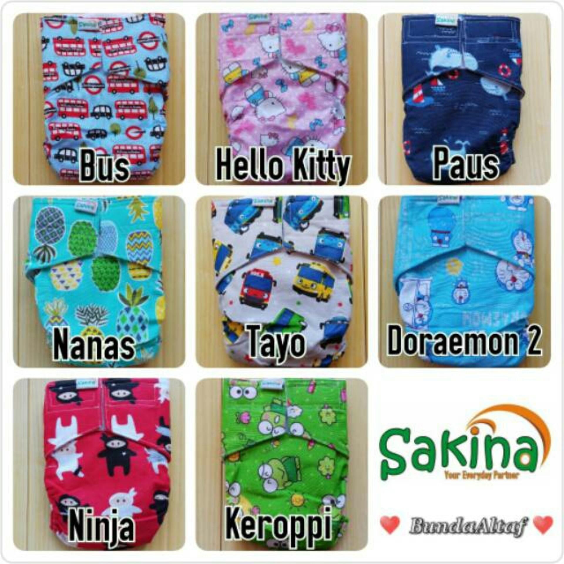 Dapat 5 Pc Clodi Sakina Cover Celana 3-11 Kg - 2 .