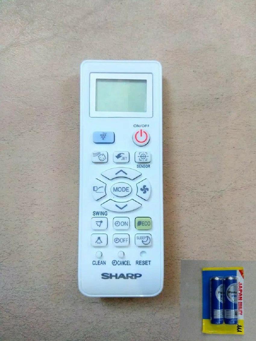 Sharp Remote Control AC Ion Plasmacluster -Free 2 Pcs Baterai Panasonic AAA - Putih