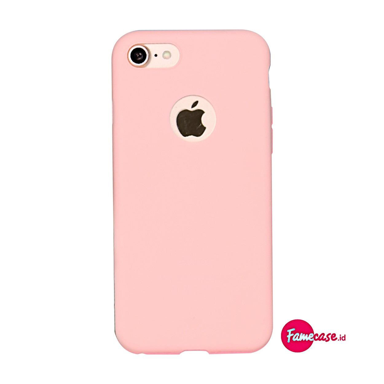 CANDY COLORFUL SOFT CASE CASING FOR IPHONE 6+ 6S+ PLUS WARNA PINK