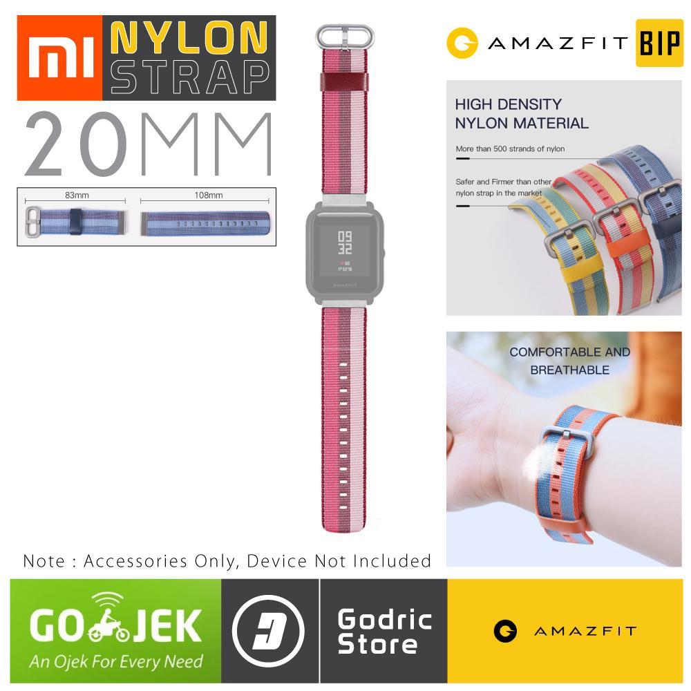 Cek Harga Baru Sikai Original Nylon Strap Smartwatch Band Xiaomi Huami Amazfit Bip Lite Youth 20mm Retro Classic