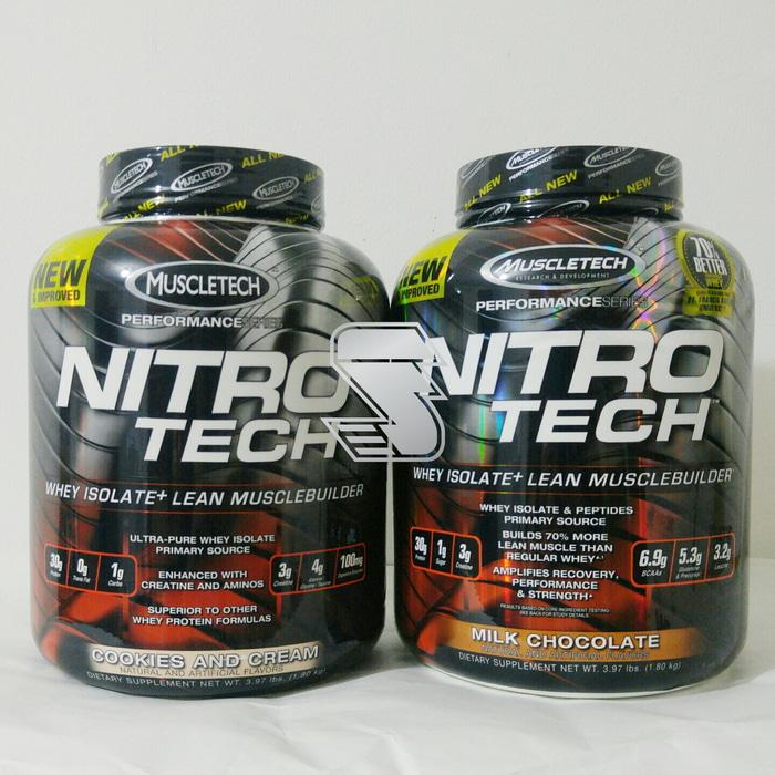 Muscletech Nitrotech Nitro Tech 4 lbs 70% better - kR4Jby