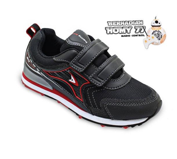 Homyped Bolt 02 Sepatu Casual Anak - Black/Red