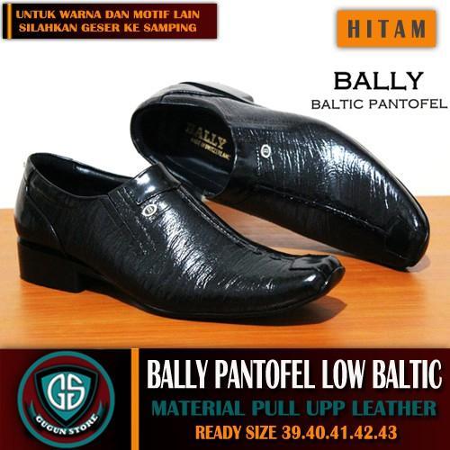 Sepatu Pantofel Pria Bally Baltic Kulit Asli 1 Warna Formal Kerja Pria Slop Slip On Boots Clarks