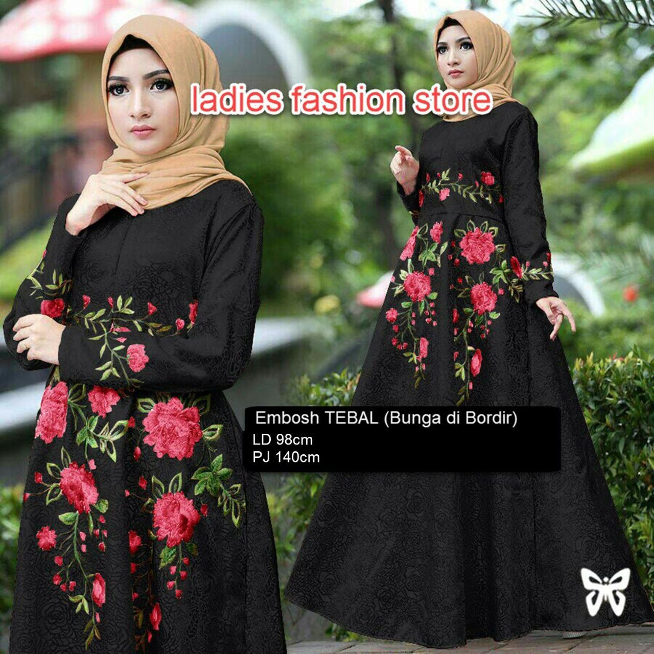 Baju Wanita Shop Dress Gamis Muslim Iyana/ Set Terusan Maxi Hijab Syar'i/ Syari Simple Elegant / Baju Muslimah Wanita / Kebaya Modern Baloteli Tanpa Pasmina (anaay) SS - HItam / Gaun Pesta