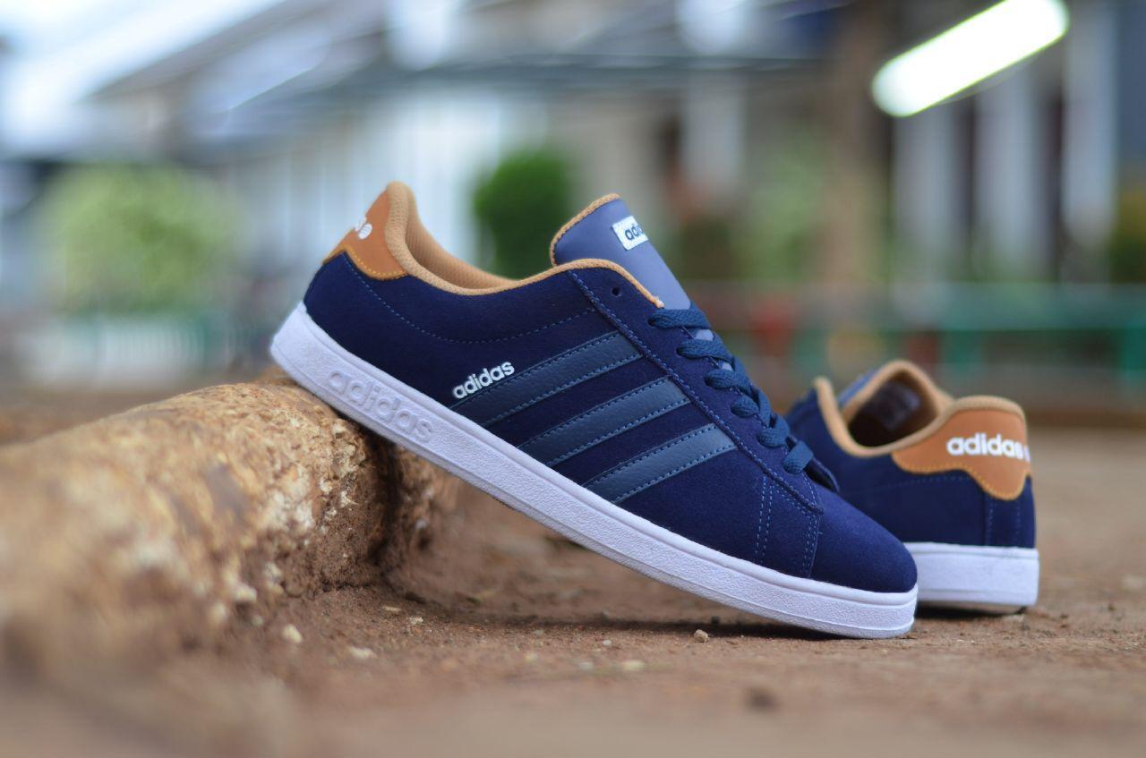 Promo sepatu adidas neo derby original BONUS kaos kaki (gratis) navy murah Diskon