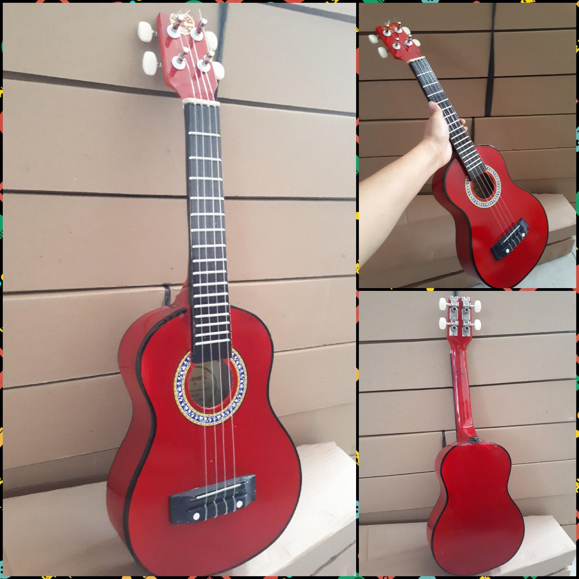 Fitur Fox Promo Gitar Kentrung Ukulele Import Gratis Pick Packing Dus