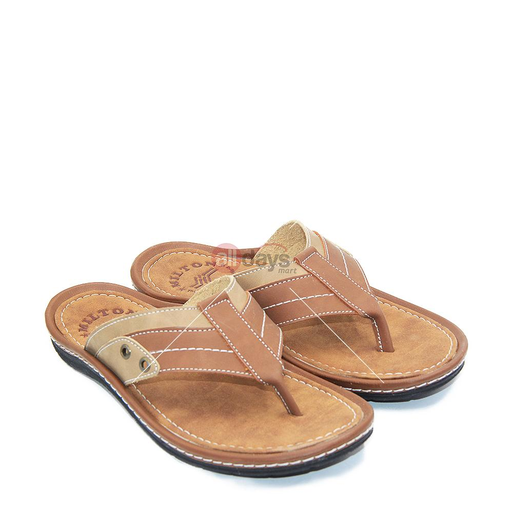 Milton Sandal Jepit / Flip Flop Casual Pria Cruz 302 - Tan/Beige