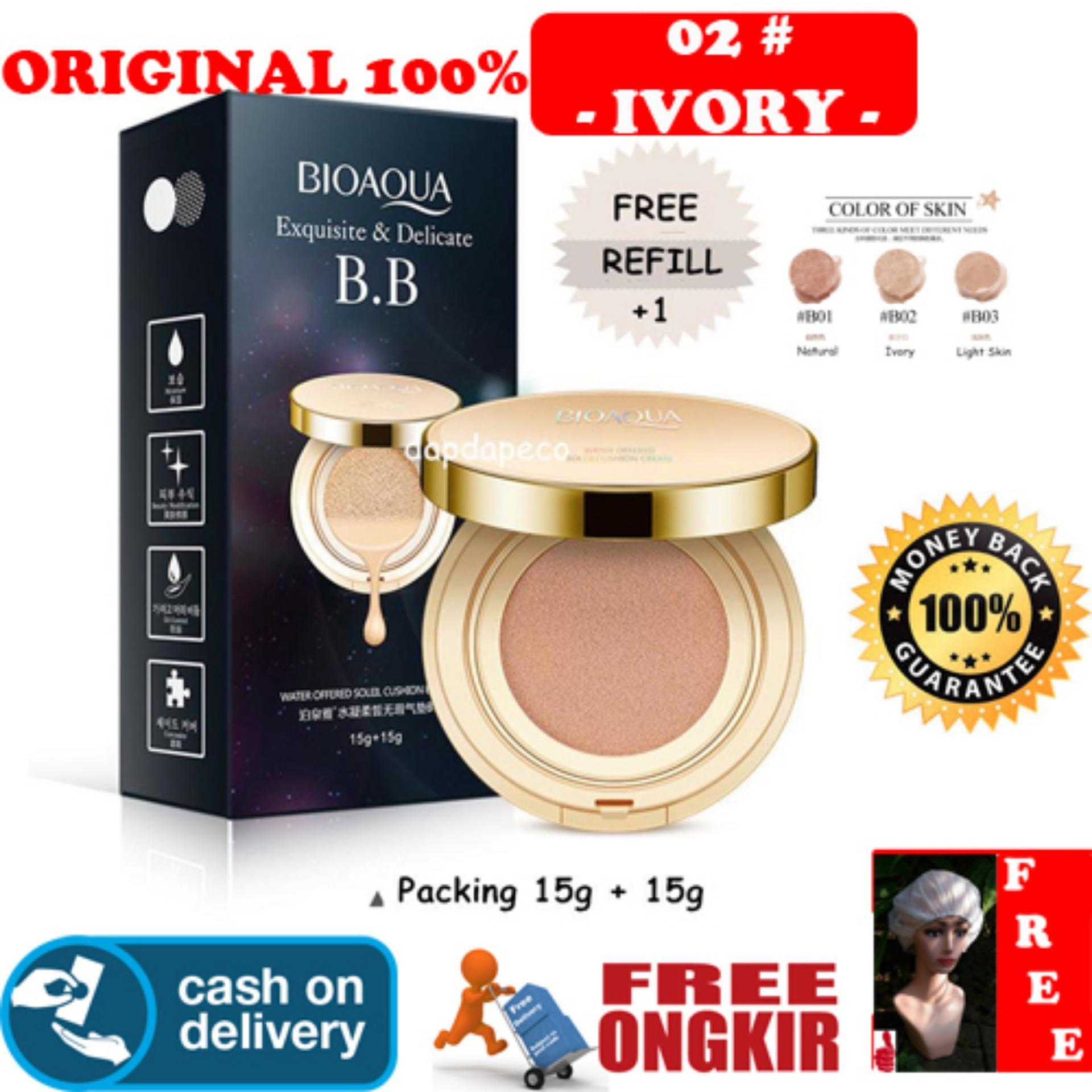 Cek Harga Baru Bioaqua Exquisite And Delicate Bb Cream Air Cushion Bio Aqua Aircusion Hoki Cod 02 Ivory